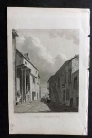 Westall 1830 Antique Print. Dent, Yorkshire